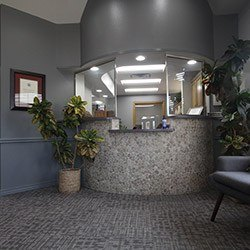Welcoming dental office front desk