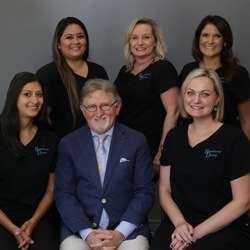Dr Stansbury and his dental team