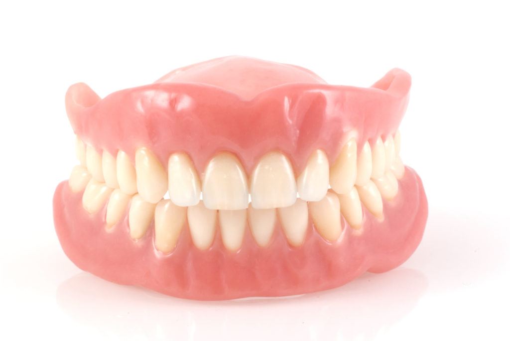 Upper and lower full denture